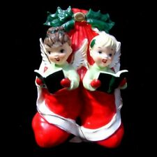 Vintage SISTER Girl Angels in Christmas Stocking Wall plaque - gift for sister!!