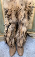 Jimmy Choo Genuine Leather and Fur Boots 38 1/2
