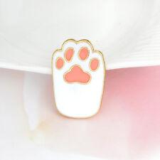 Cartoon Cat Paw Hard Enamel Pin Yellow White Metal Animal Pet Brooch for girl