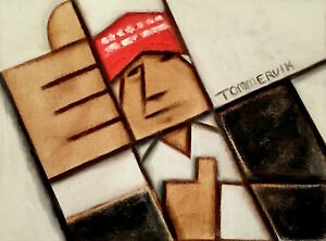DONALD TRUMP PAINTING POTUS ELECTION POLITICAL WALL ART CUBIST POP ART ORIGINAL