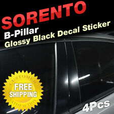 Glossy Black B Pillar Post Decal Sticker Molding 4P For KIA 2003-2006 Sorento