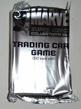 2 Packs Marvel Super Heros Collectors Club Trading Card Game 50 Card Set New