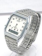 Casio Analog Digital Silver tone AQ230A-7B AQ230 AQ230 Alarm Dual time Stopwatch