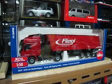 Mercedes Benz actros fliegl dump truck trailer 1/50 siku 3537 free shipping