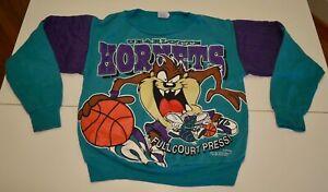 VINTAGE 1996 kids Charlotte Hornets Taz Sweatshirt Size 8 Tazmanian Devil NBA