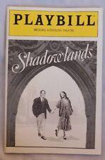 SHADOWLANDS PLAYBILL Brooks Atkinson Theatre Jan 1991