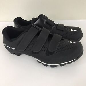 Specialized Riata MTB Cycling Shoes Black Hook & Loop Closure Women's Size 8