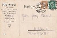 Postkarte verschickt von Wittenberg (Lutherstadt) nach Dresden aus dem Jahr 1927