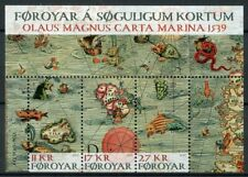Faroes Faroe Islands 2019 MNH Old Maps Olaus Magnus Carta Marina 3v M/S Stamps