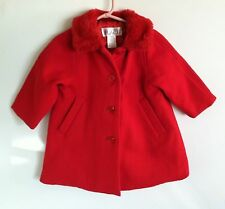 The Children's Place Red Christmas Winter Coat Heavy Baby Girls size 24 Months