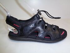 Ecco Size 8 to 8.5 Eur 39 BLUMA TOGGLE Black Leather Sandals New Womens Shoes