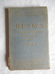 GUIDE MICHELIN DES CHAMPS DE BATAILLE REIMS 1919