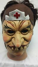 Old nurse Halloween Latex Mask Adult Costume Fancy Dress Party
