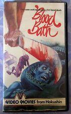 BLOOD BATH HOKUSHIN PRE CERT VHS PAL DPP39 VIDEO NASTY MARIO BAVA, BAY OF BLOOD