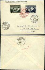 137/Zeppelin Liechtenstein 1931 Vaduz Lausanne 114-115 Brief Luxemburg Si 110 C