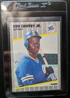 1989 FLEER #548 KEN GRIFFEY JR ROOKIE CARD RC SEATTLE MARINERS HOF GEM MINT
