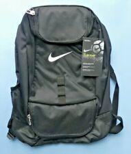 Nike Swoosh Club Equipo Mochila con bola de arranque de almacenamiento ~ Negro ~ Nuevo con etiquetas