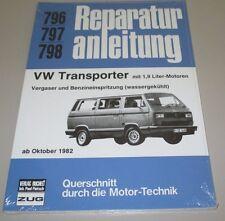 Reparaturanleitung VW Transporter T 3 Bulli mit 1,9 Liter Motor Benziner ab 82!