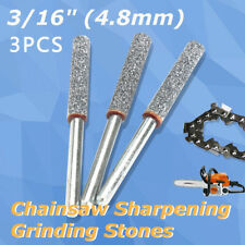 """3 Pack Stones Fit 12V Hand Held Chainsaw Saw Chain Sharpener Grinder 3/16"""" 4.8mm"""