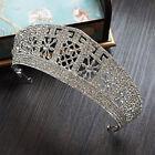 Silver Pageant Wedding Bridal Crystal Queen Crown Headband Tiara Prom headpiece