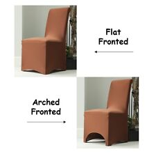 Lycra Spandex Chair Covers for Arched Flat Party Wedding Decoration Chocolate Arch Fronted 1 Coaa0008