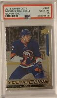 2018 2019 UPPER DECK Michael Dal Colle PSA 10 SILVER FOIL YOUNG GUNS RC ROOKIE