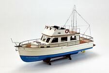 "Grand Banks 32 Yacht Handmade Wooden Boat Model 38"" RC Ready Top Quality"