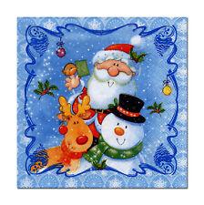 4 lose Motivservietten Servietten Napkins Weihnachten Weihnachtsmann & Co (330)