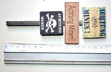 1/6 SCALE CUSTOM GERMAN WWII - WOOD POST - TRAFFIC SIGNAL - ACHTUNG MINEN