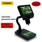 600X digital microscope electronic video 4.3 inch HD LCD Magnifier metal stand