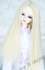"1/3 8-9""LUTS PULLIP SD BJD Doll Wig Long Straight Blonde Hair"