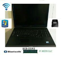Dell precision m6400 2.8ghz core 2 duo T9600,8gb ddr3,Win7,BT,WIFI,NEW 120gb SSD