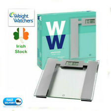WEIGHING SCALES WEIGHT WATCHERS ULTRA SLIM GLASS ELECTRONIC LCD DIGITAL BATHROOM