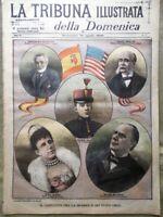 La Tribuna Illustrata 17 Aprile 1898 Conflitto Spagna Stati Uniti Expo di Torino