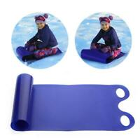 Winter Toboggan For Kids Adult Skiing Board Snow Sled Grass Pad Rope Sand Blue