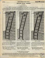 1935 PAPER AD 3 PG Milbradt Rolling Store Ladder Library Bicycle Wheels