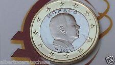 MONACO 1 euro 2013 fdc assoluto BU Principe ALBERTO prince albert II Монако