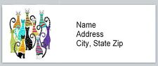 Personalized Address Labels Abstract Cats Buy 3 get 1 free (BX 521)