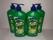 4 Suave Kids Silly Apple 3 in 1 Shampoo Conditioner & Body Wash 18 FL OZ