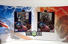 "S.H Figuarts ""Iron Man Mark 46 + Captain America "" SET Tamashii Action Figure"