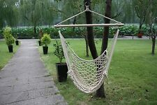 White Cotton Rope Swing Hammock Cradle Outdoor 