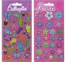 I progetti di carta Farfalle e Fiori Sparkle sventate adesivi età 3 - 4
