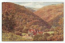 artist signed ar quinton postcard england devon 958