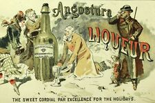 1870's-80's Angostura Liqueur Sweet Cordial Bitters For the Holidays Card F75