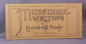 Muscular Writing--reproduction course of study