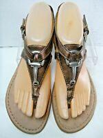 BOC Born Concept Womens Thong Sandals Size 7 M Sling Back Bronze #B