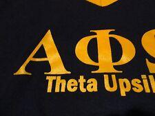 Vintage ALPHA PHI OMEGA Greek Fraternity Sorority T Shirt Theta Upsilon sz Small