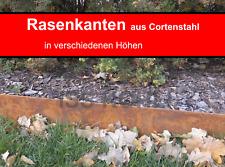Rasenkante Cortenstahl Edelrost Mähkante Beeteinfassung Stahl rostig Corten rost