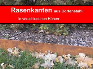 Rasenkante Cortenstahl Edelrost Mähkante Beeteinfassung Stahl rostig Corten 6