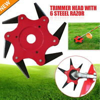 6 Teeth Grass Trimmer Head Brush Cutter Steel Garden Tools Strimmer Mower Blade
